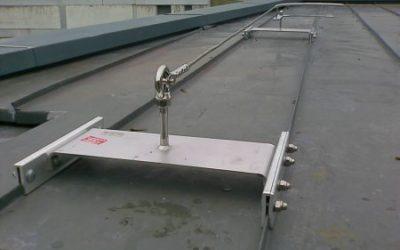 Réalisation : Lignes de vie sur toiture type joints debout