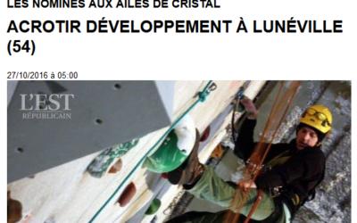 Événement : ACROTIR Développement nominé aux « Ailes de Cristal »
