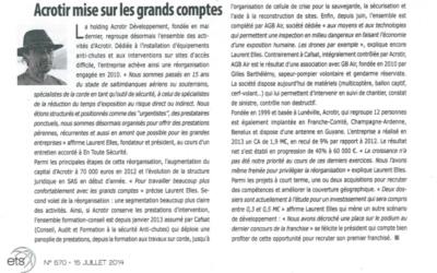 Événement : Article du magazine « En toute sécurité »